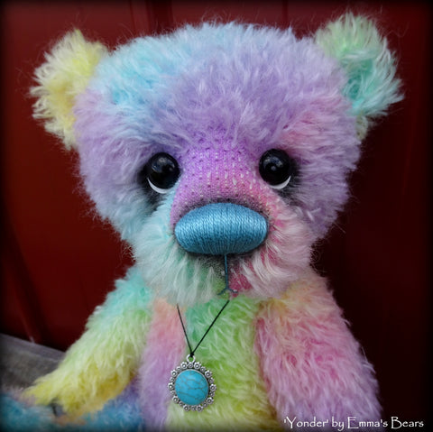 "KITS - 16"" Yonder Rainbow Double Thick Mohair Bear"