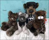"Zuri - 13"" Tissavel faux fur artist bear by Emma's Bears - OOAK"
