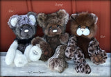 "Zephyr - 13"" Tissavel faux fur artist bear by Emma's Bears - OOAK"