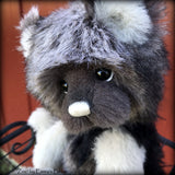 "Zinc - 13"" Tissavel, mohair and alpaca artist bear by Emma's Bears - OOAK"