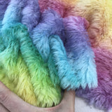 Medium Alpaca  - Hand Dyed Rainbow - Fat 1/8m  - APR042
