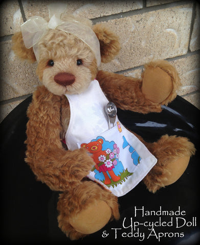 NEW Handmade Upcycled Doll and Teddy Aprons