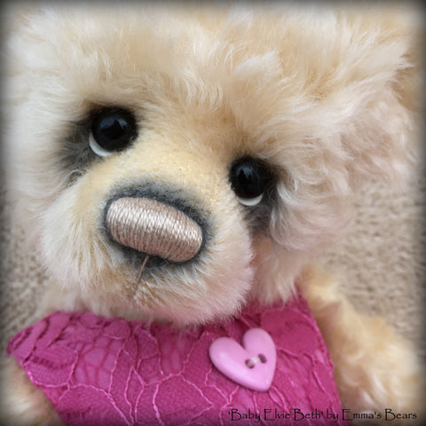 Baby Elvie Beth - 14in MOHAIR Premmie Artist Bear by Emmas Bears - OOAK