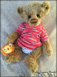 Baby Gaston Basile - 17in MOHAIR Artist Newborn baby Bear by Emmas Bears - OOAK