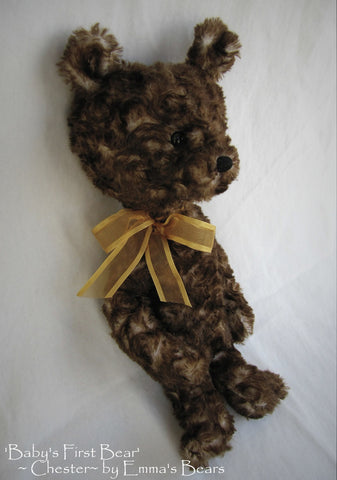Chester - Babys First Bear -14in Faux Fur Artist Bear by Emmas Bears