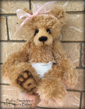Baby Sweetpea - 17in MOHAIR Artist Newborn baby Bear by Emmas Bears - OOAK