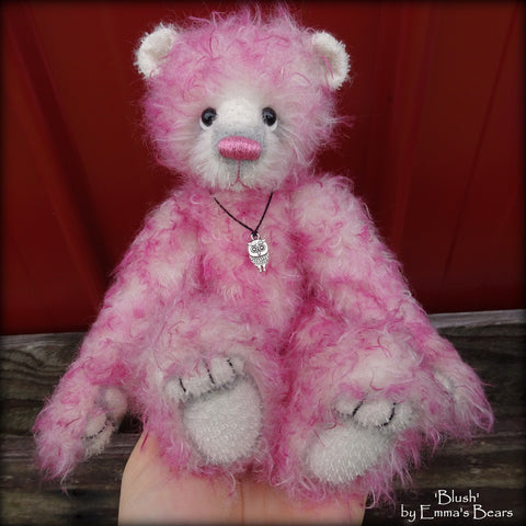 "Blush - 9"" mohair bear by Emmas Bears - OOAK"