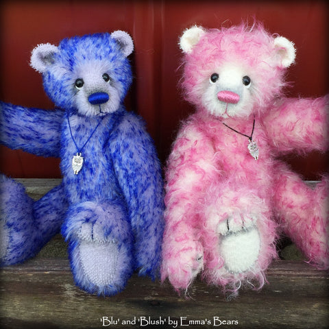 "KITS - 10"" Blu and Blush Artist Mohair Bears by Emmas Bears"