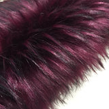 "KITS - 15"" Boysenberry faux fur bear"