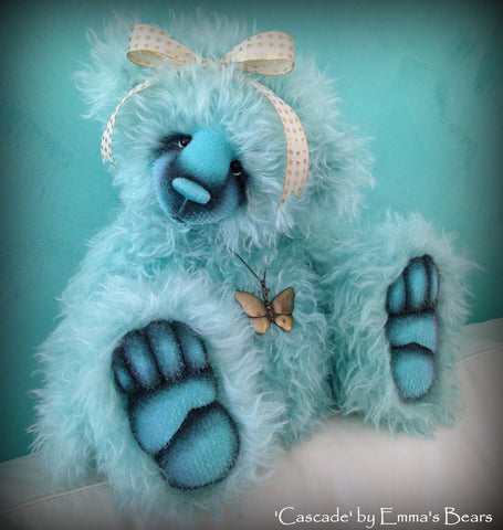 Cascade - 21IN hand dyed mohair bear by Emmas Bears - OOAK
