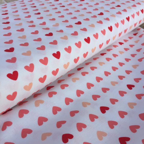 Pink Hearts Quilters Cotton