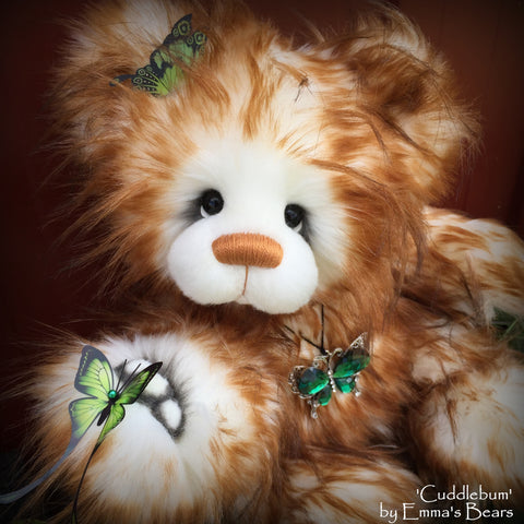 Cuddlebum - 17IN super fluffy artist bear by Emmas Bears - OOAK