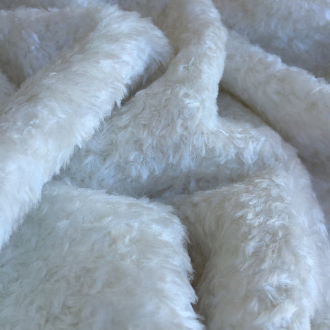 Curly Viscose - Natural Ivory White