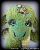 Natsuki DRAGON - 15in MOHAIR Artist Baby Dragon by Emmas Bears - OOAK
