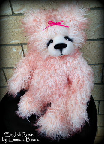 "KITS - 19"" English Rose faux fur bear"
