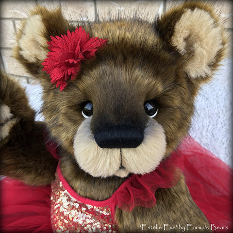 "Estelle Eve - 25"" Christmas 2018 Toddler Artist Bear by Emma's Bears - OOAK"