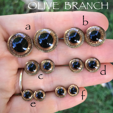 Hand Painted Eyes - OLIVE BRANCH