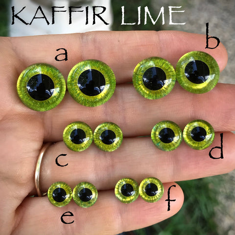 Hand Painted Eyes - KAFFIR LIME