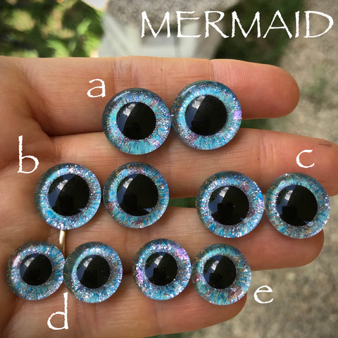 Hand Painted Eyes - Mermaid
