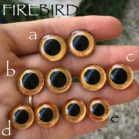 Hand Painted Eyes - Firebird