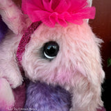"Tula Elephant - 11"" mohair artist soft sculpture by Emmas Bears - OOAK"