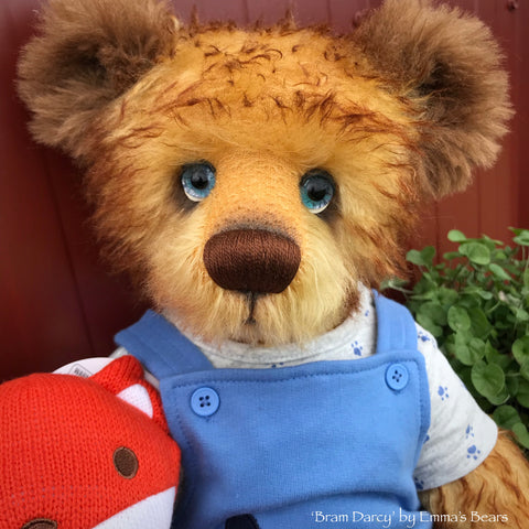 "Bram Darcy - 21"" Mohair and Alpaca Toddler Artist Bear by Emma's Bears - OOAK"