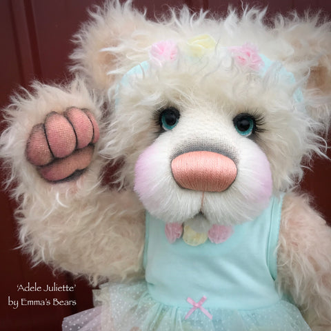 "Adele Juliette - 24"" Mohair Toddler Artist Bear by Emma's Bears - OOAK"