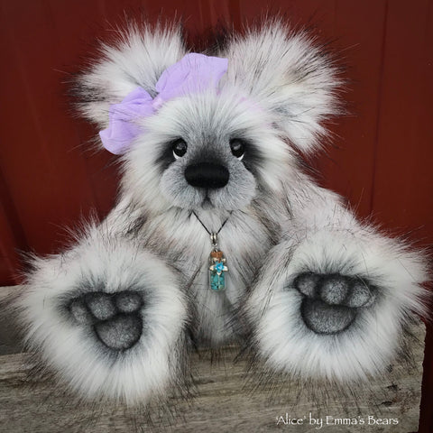 "KITS - 12"" Alice faux fur bear"