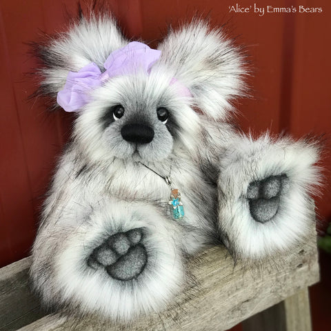 "Alice - 12"" faux fur artist bear by Emmas Bears - OOAK"