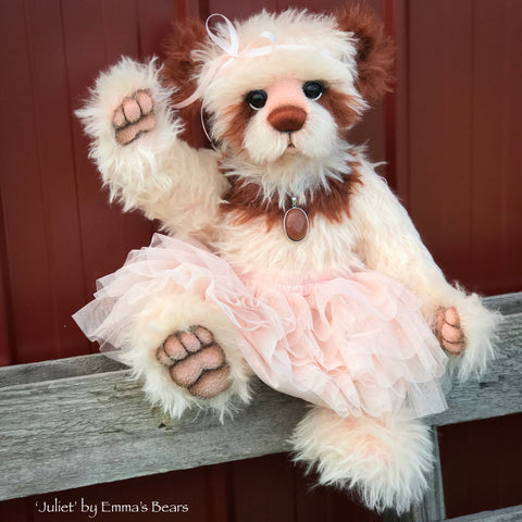 "Juliet - 20"" mohair artist bear by Emmas Bears - OOAK"
