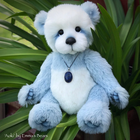 "Aoki - 16"" Alpaca and Faux Fur Artist Easter Bear by Emma's Bears - OOAK"