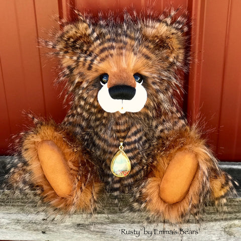 "KITS - 16"" Rusty faux fur bear"
