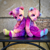 "Splash - 8"" Hand-Dyed Viscose Artist Bear by Emma's Bears - OOAK"