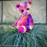 "Cosmo - 8"" Hand-Dyed Viscose Artist Bear by Emma's Bears - OOAK"