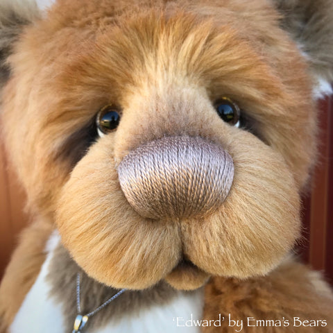 "Edward - 18"" faux fur and alpaca bear by Emmas Bears - OOAK"