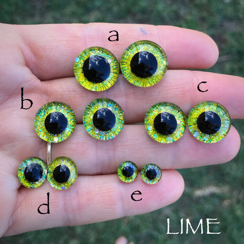 Hand Painted Eyes - Lime