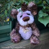 "Murasaki- 11"" Hand Dyed Kid Mohair and Alpaca Artist Bear by Emma's Bears - OOAK"