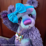 "Lilywish - 18"" Hand-dyed Mohair and Alpaca Artist Bear by Emma's Bears - OOAK"