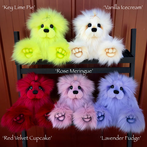"KITS - 13"" faux fur bear in YOUR CHOICE of five colours"