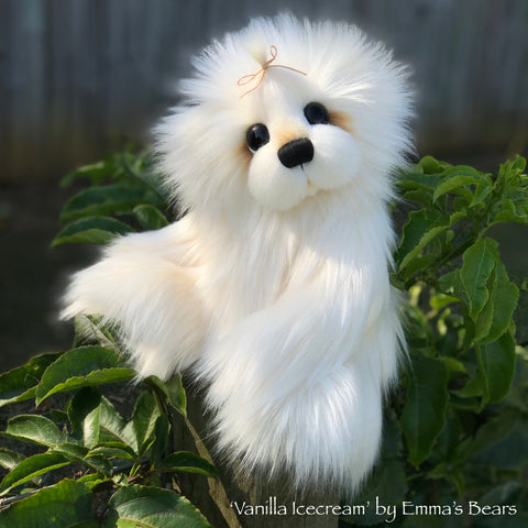 "Vanilla Icecream - 13"" faux fur Artist Bear by Emma's Bears - OOAK"