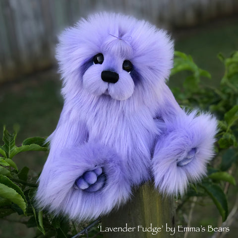 "Lavender Fudge - 13"" faux fur Artist Bear by Emma's Bears - OOAK"