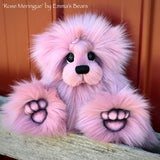 "Rose Meringue - 13"" faux fur Artist Bear by Emma's Bears - OOAK"