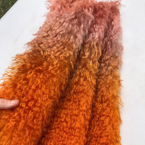 Curlylocks Mohair - Hand Dyed Sunburn - Fat 1/4m - OCT024