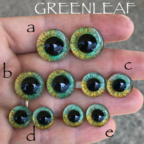 Hand Painted Eyes - Greenleaf