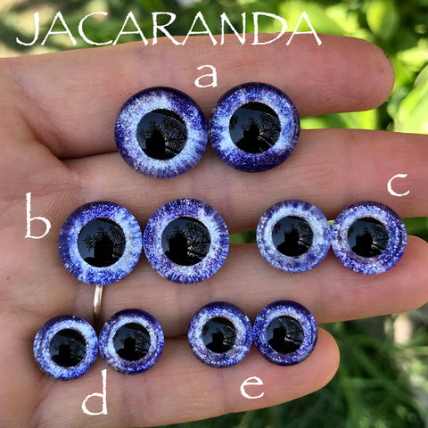 Hand Painted Eyes - Jacaranda