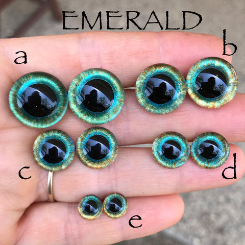 Hand Painted Eyes - Emerald