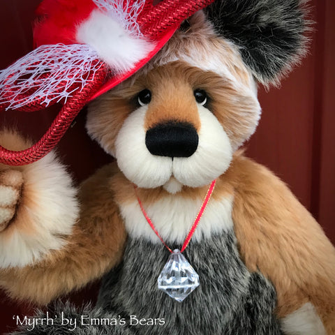 "Myrrh - 16"" faux fur Christmas Artist Bear by Emma's Bears - OOAK"