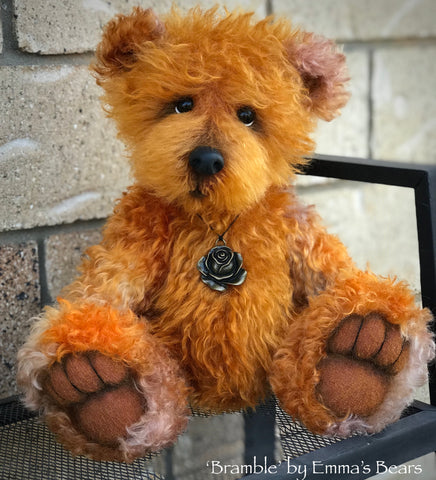 "Bramble - 15"" hand-dyed kid mohair bear by Emmas Bears - OOAK"