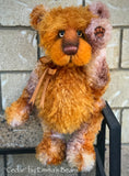 "Cedar - 17"" hand-dyed kid mohair bear by Emmas Bears - OOAK"