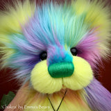 "Chakra - 15"" faux fur Artist Bear by Emma's Bears - OOAK"
